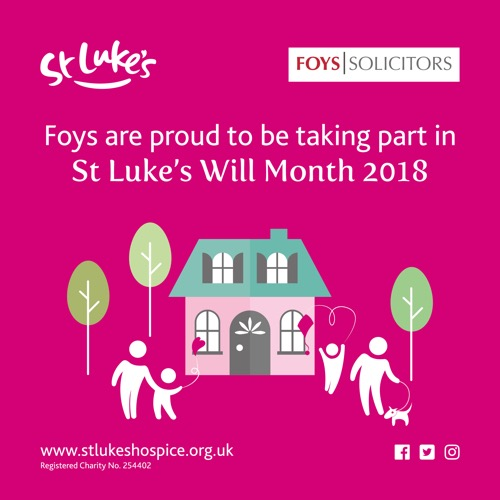 Make a Will and help St Luke's Hospice while you're at it