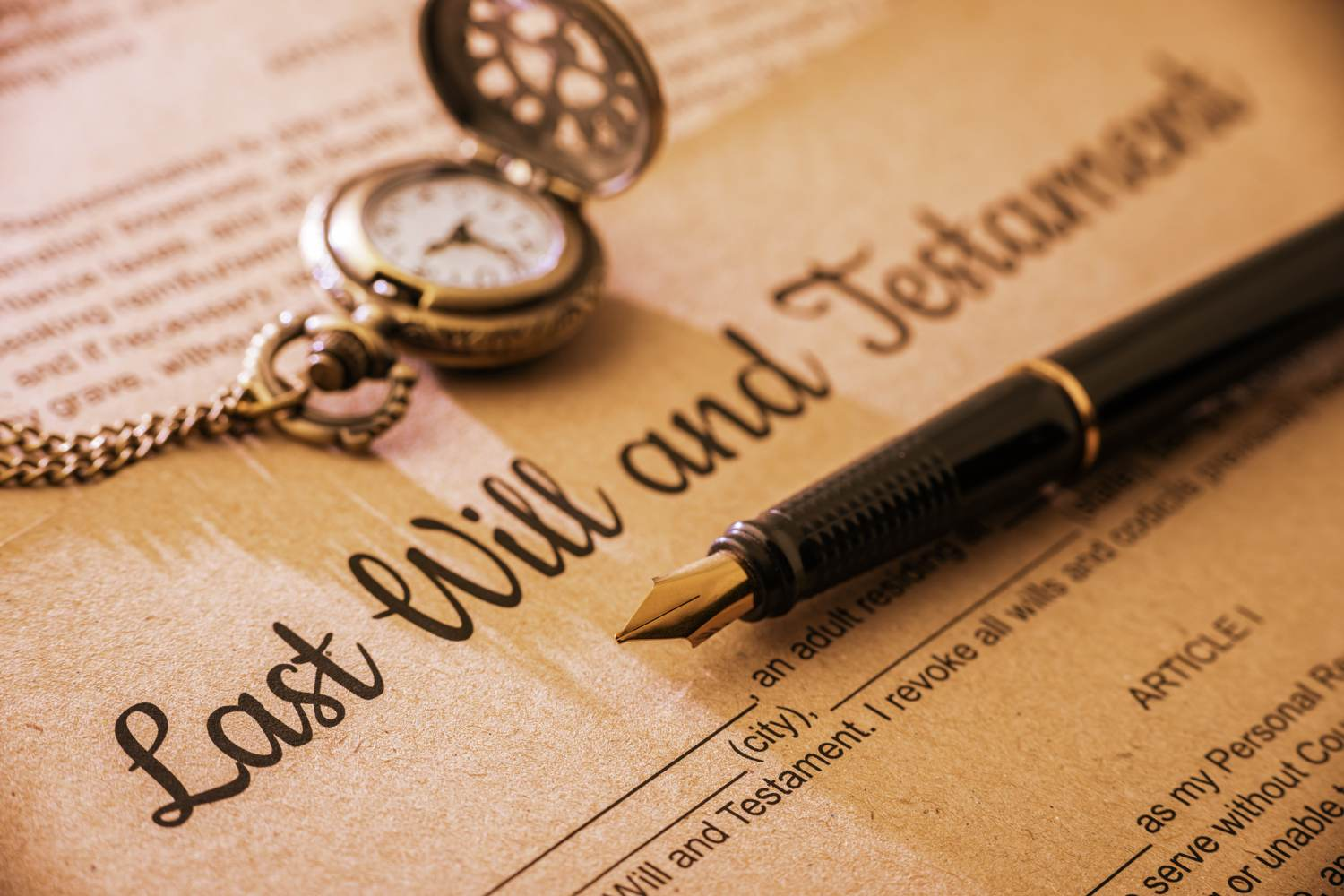 Thinking about the future: Writing a Will
