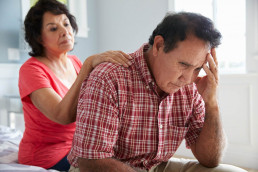 wife supports husband with dementia