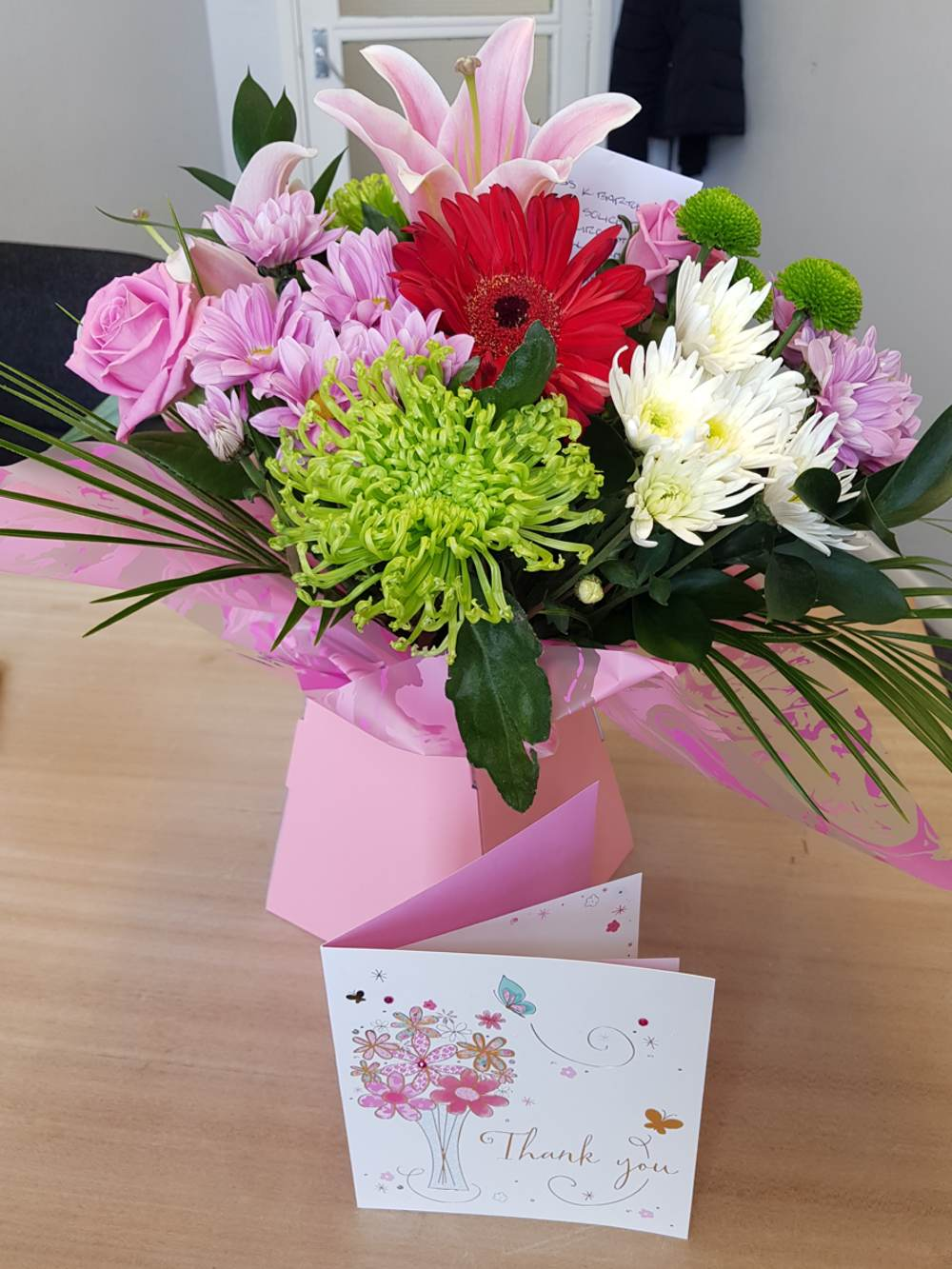 Flowers from happy client