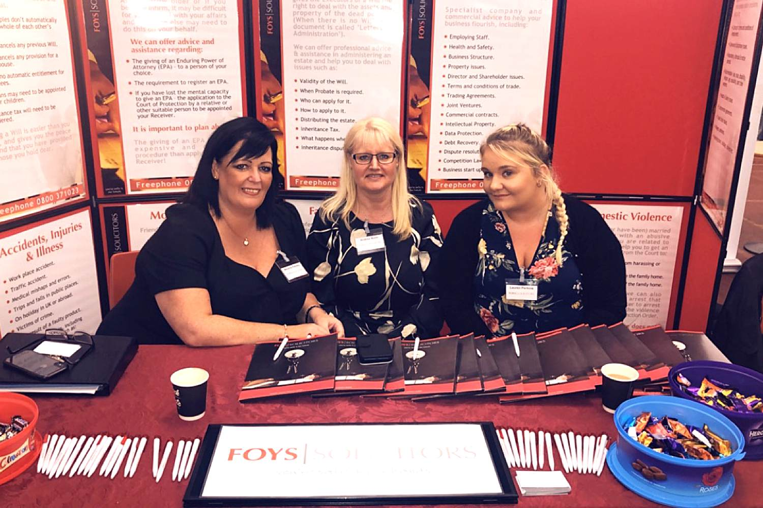 Foys Solicitors at the What's Next event in Worksop.