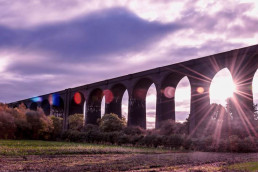 Conisbrough Viaduct, just outside Doncaster, England
